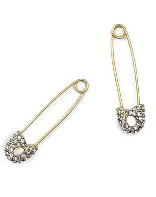 Rachel Rachel Roy safety pin earrings